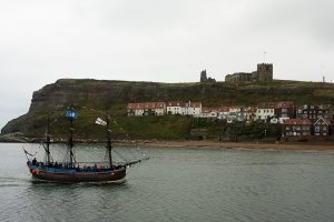 Pirate Ship and Whitby Cathedral