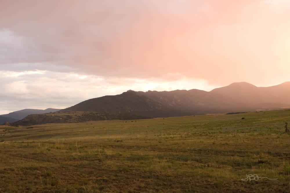 Sunset over Tooth Ridge