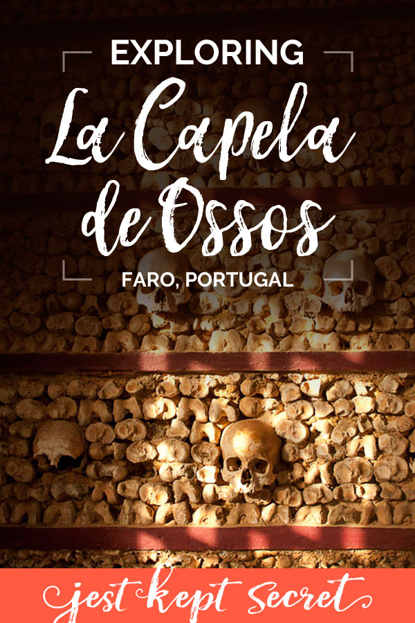 Pinnable image for this post featuring a wall of human bones and skulls