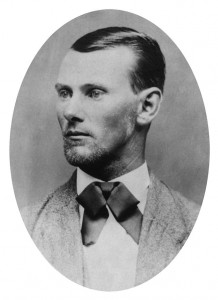 Jesse James, 13th cousin once removed. (There's one in every family...)