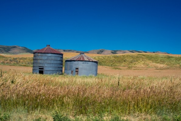 I saw a lot of farm country, especially during the summer.