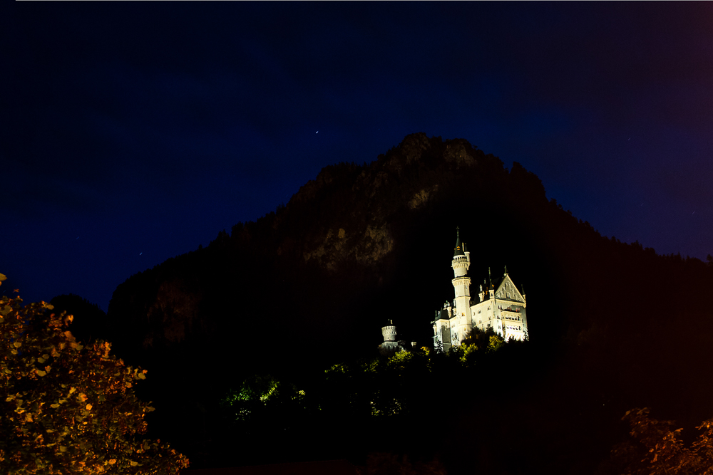 Neuschwanstein at Night | Jest Kept Secret