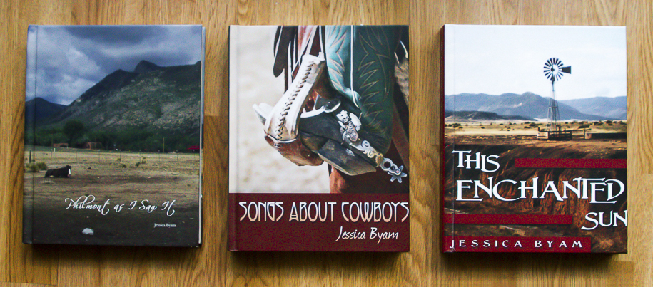 Three photo book covers