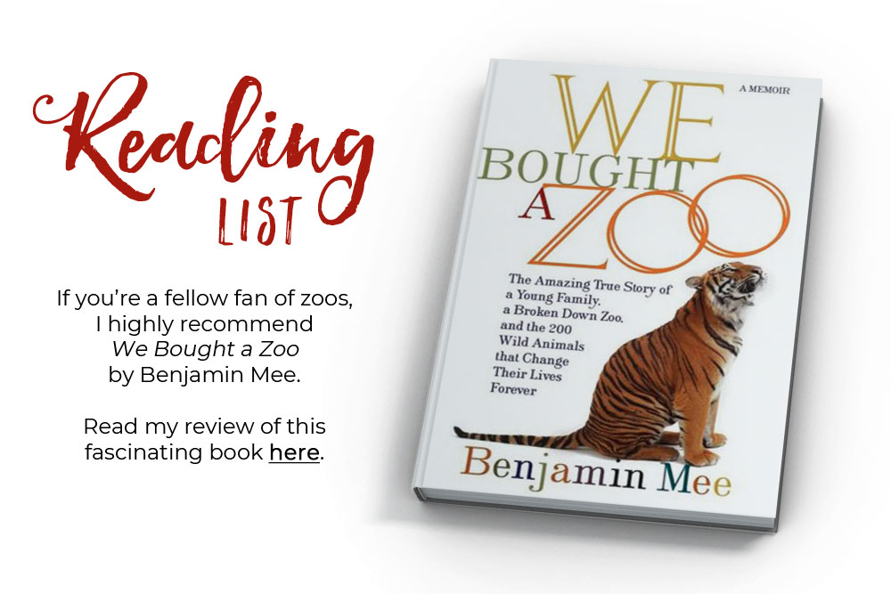 Promotional image for a review of the book We Bought a Zoo on Jest Kept Secret