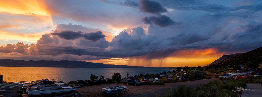 Stormy Sunset over Bear Lake