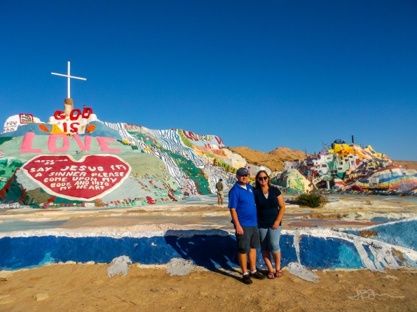 Me and Brett at Salvation Mountain