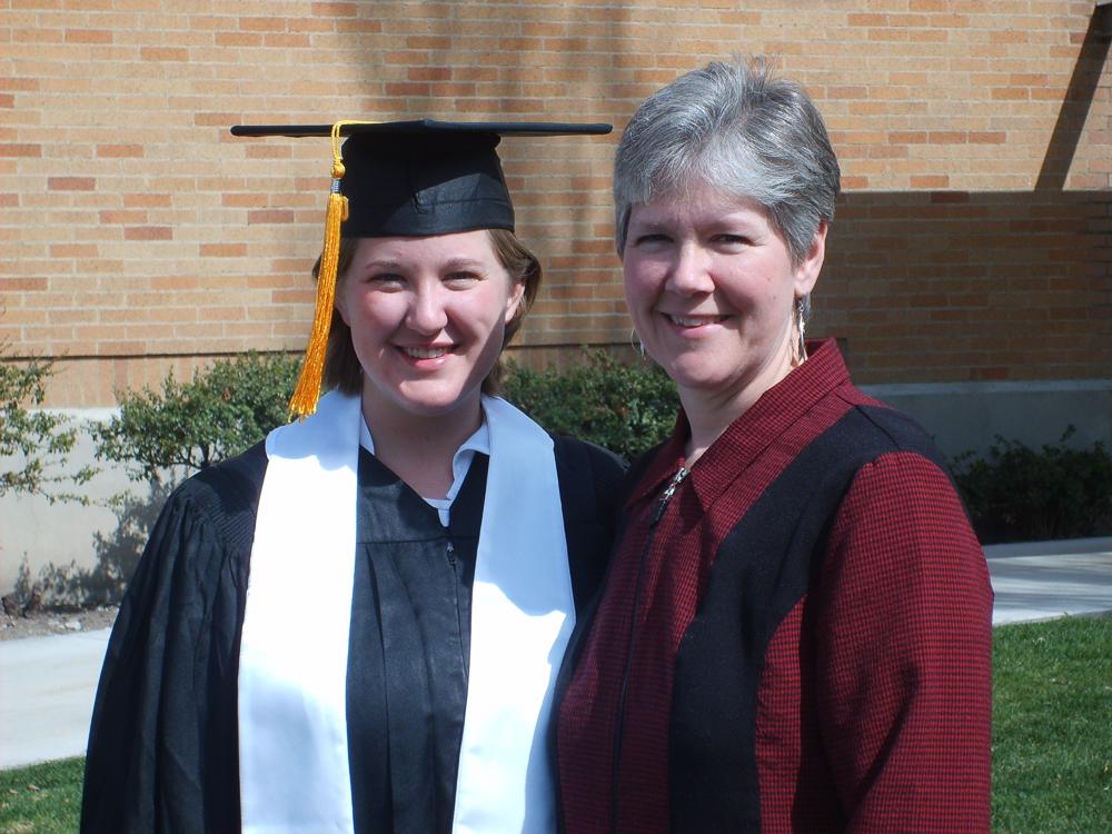 Jess Friedman and her mom at Jess' university graduation