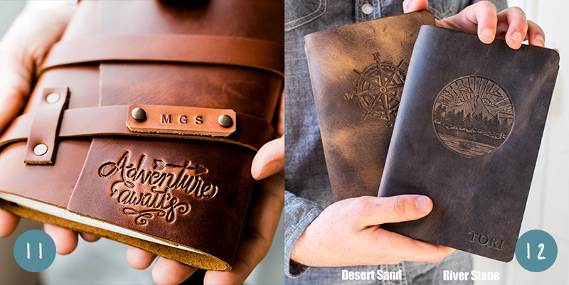Two leather journals