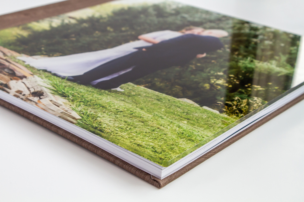 """Acrylic """"glass"""" cover on a photo book"""