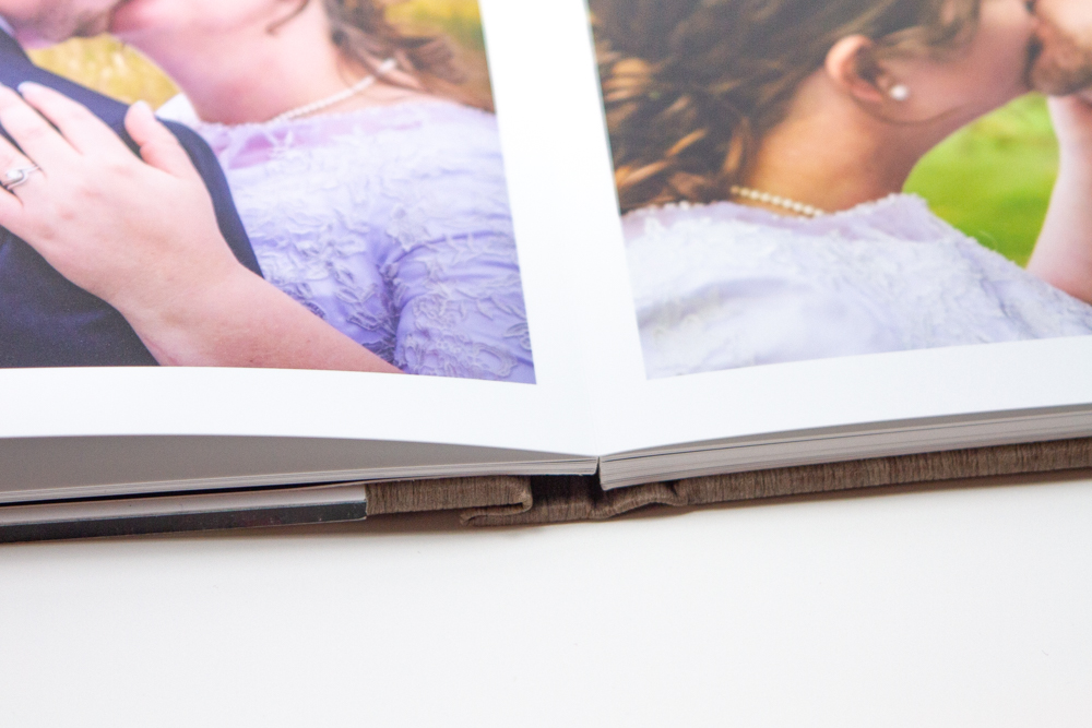 Layflat pages in a photobook