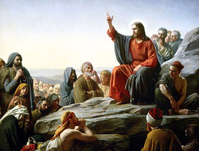 Detail from a painting of Jesus' Sermon on the Mount by Carl Bloch