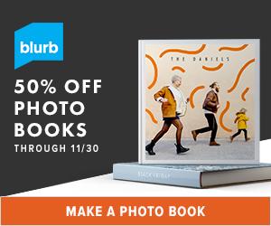 50% off Photo Books from Blurb through 11/30