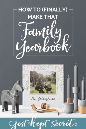 How to Finally Make that Family Yearbook pin