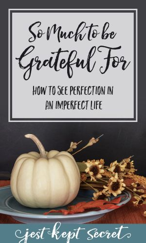 So Much to be Grateful For: Seeing Perfection in an Imperfect Life | Jest Kept Secret